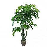 Artificial Plants Money Tree, Large Silk Green Leaves Pachira Macrocarpa Tree, 155cm Tall, With No Pot(949#)