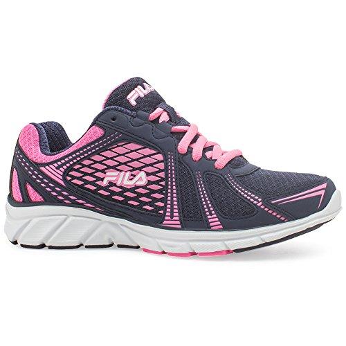 Fila Women's Memory Passage Running Sneakers, Navy Mesh, Man-Made, EVA, Rubber, 6.5 M