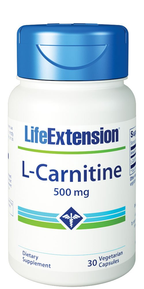 Life Extension L-Carnitine 500 Mg 30 Vegetarian Capsules by Life Extension
