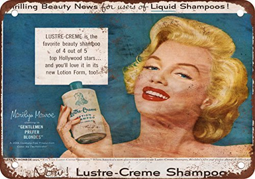 Lustre Creme - GMNJH Lustre-Creme Shampoo Vintage Look Reproduction Metal Tin Sign 8X12 Inches