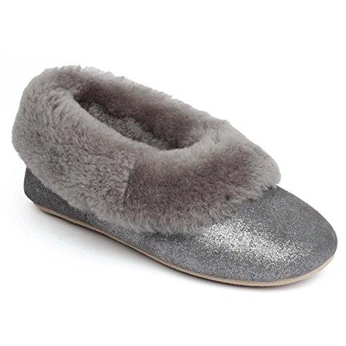 Di Pecora Solo Granito Pelle Di Signore Pecora Pantofole Pelle Scintilla Di Regina qzg5fzxw