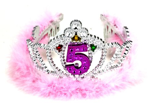 Forum Novelties 5th Birthday Flashing - Tiara Marabou Feather