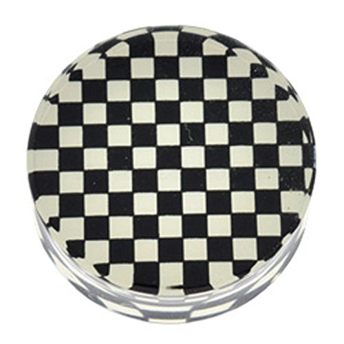 PMMA Mega Silhouette Flesh Plug - Checkerboard 26mm