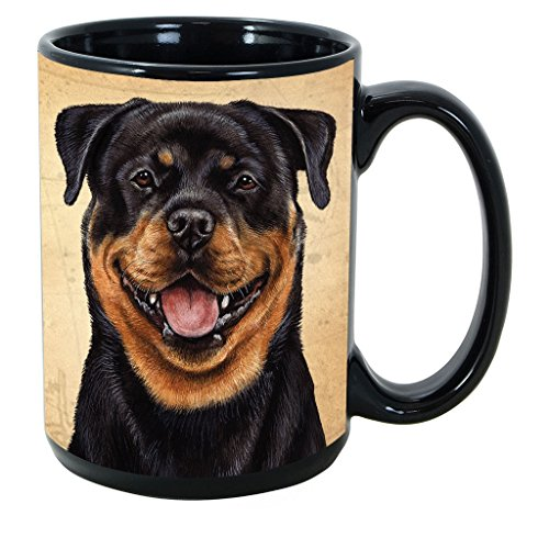 Imprints Plus Dog Breeds (R-Z) Rottweiler 15-oz Coffee Mug Bundle with Non-Negotiable K-Nine Cash (rottweiler 145) ()