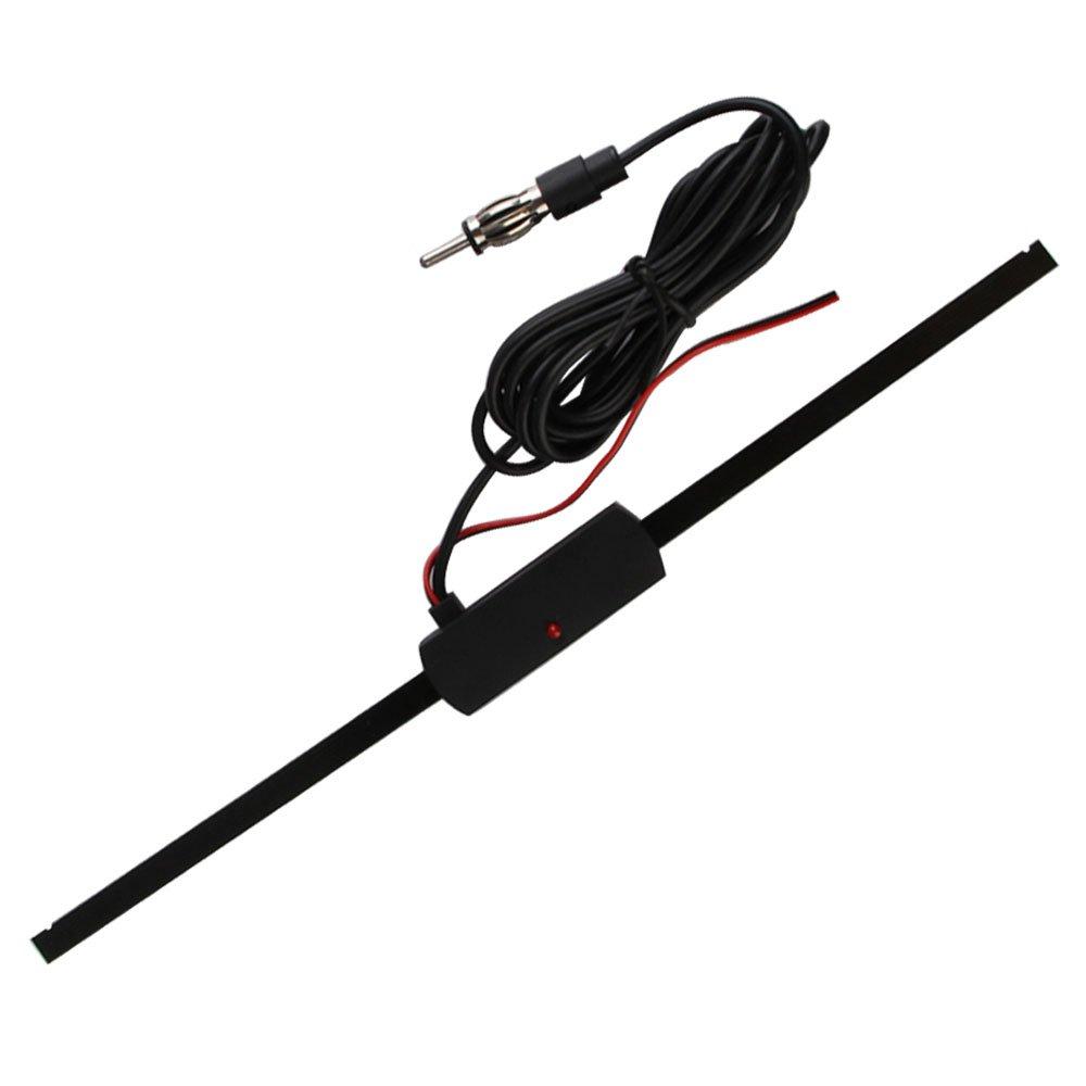 sikiwind Universal Car Windshield 12V Electronic AM-FM Radio Non-Directional Antenna