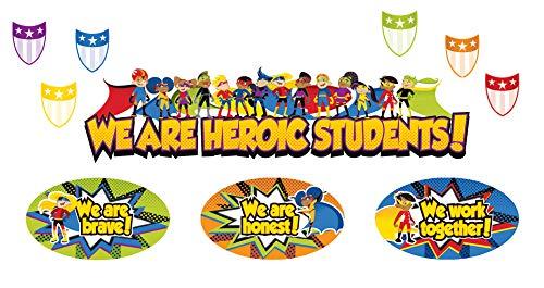 Carson Dellosa Super Power Heroic Students Mini Bulletin Board Set (110314) -