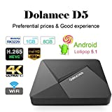 DOLAMEE Android 5.1 Smart Box Rockchip RK3229 Quad-core 1GB RAM 8GB ROM 4K Mini PC Player with WIFI HDMI 2.0
