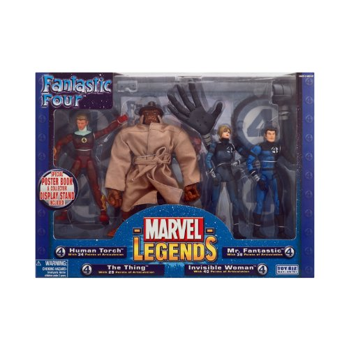 Boxed Set Exclusive (Marvel Legends Boxed Sets Fantastic Four 4-Piece Exclusive Action Figure Boxed Set)