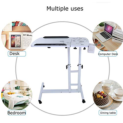 Lucoo Laptop Desk Folding Computer Desk Household Can Be Lifted and Folded 64cm40cm (White) by Lucoo (Image #9)