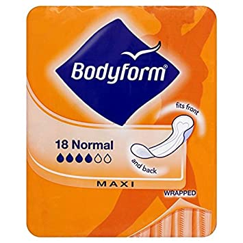 BODYFORM Maxi Normal Sanitary Pads 18-Piece (Pack of 8): Amazon.co ...