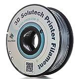 3D Solutech 1.75mm ABS 3D Printer Filament Silver Metal 2.2 LBS (1.0KG) - MADE IN USA