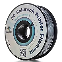 3D Solutech Printer Filament, Silver Metal PLA, 1.75MM Filament, Dimensional Accuracy +/- 0.03 mm, 2.2 LBS (1.0KG) - 100% USA Plastic Filament