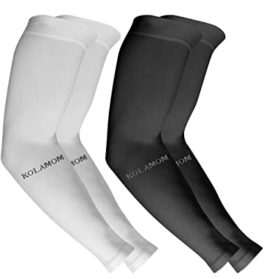 5 Pairs UV Protection Cooling Arm Sleeve UPF 50 Sun Sleeves For Men Women Unisex