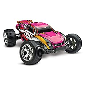 Traxxas Rustler 1/10 Scale 2WD Stadium Truck with TQ 2.4GHz Radio, Pink