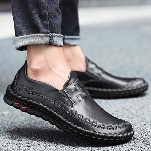 Caminar de para Negro Vestir Negro Estilo Zapatos de Mocasines YaXuan Mocasines Hombres para británico conducción Marrón Slip Zapatos Ons Mocasines qzRTnwxt16
