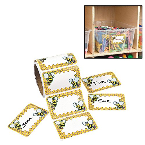 Fun Express - Bumble Bee Name Tags (100ct) - Stationery - Stickers - Name Tags - 1 Piece ()