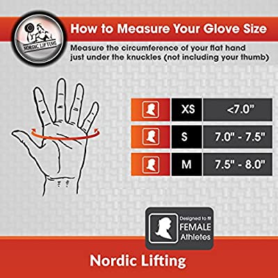 Weight Lifting Gloves for Women - Sports & Fitness, Gym and CrossFit - By Nordic Lifting - 1 Year Warranty