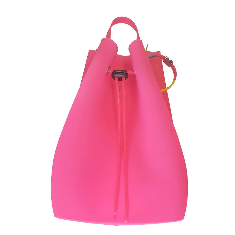 American Jewel Gummy Bucket Bag Backpack - Pink