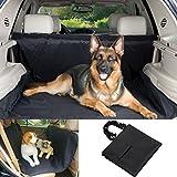 WaterProof Car Bench Seat Pet Cover Hammock Dog Mat With Seat Belt Black US Stock