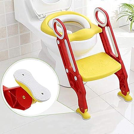 Aseo Escalera Asiento Escalera del tocador de niños Asiento para WC con escalón plegable Orinal Formación Color azul: Amazon.es: Bebé