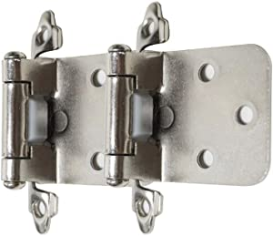Self Closing Overlay Cabinet Hinge Satin Nickel Variable Overlay Face Mount Cabinet Hinges,25Pairs