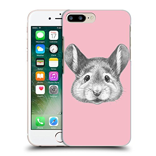GoGoMobile Coque de Protection TPU Silicone Case pour // Q05410630 Souris portrait Rose // Apple iPhone 7 PLUS