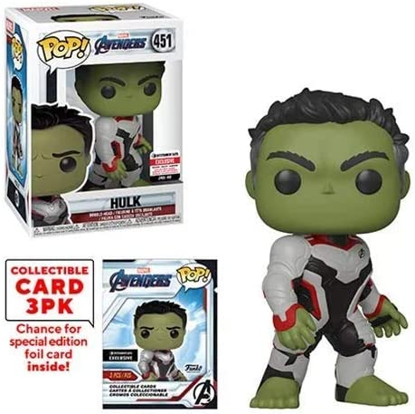 Funko Pop Marvel Avengers Endgame Hulk with Collector Cards Entertainment Earth Exclusive