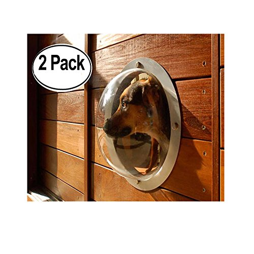 2-Pack Pet Love Fence Bubble Window for Pets and Dogs Peek Clear View; Solution for less dog barks Happy Neighbors by Love Pet-J