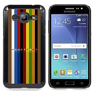 """Qstar Arte & diseño plástico duro Fundas Cover Cubre Hard Case Cover para Samsung Galaxy J2 / J200 (GOT Sygil Colección"""")"""