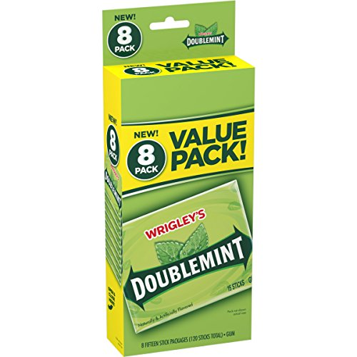 Wrigley's Gum, Doublemint, 8 Count (Best Chewing Gum In The World)