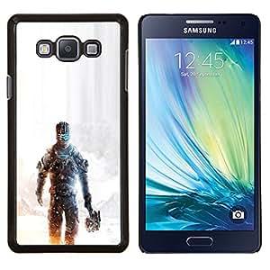 KLONGSHOP // Cubierta de piel con cierre a presión Shell trasero duro de goma Protección Caso - Dead Spac3 - Samsung Galaxy A7 A7000 //