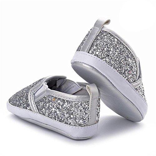 bf13aafb HCFKJ ReciéN Nacido NiñAs NiñOs Cuna Zapatos Suave Suela Antideslizante  Zapatos De Lentejuelas Zapatillas De Bebé