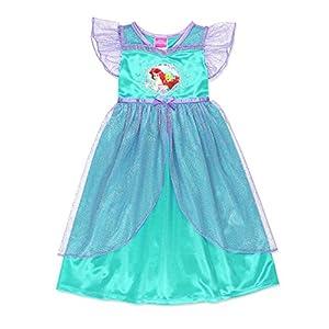 The Little Mermaid Ariel Girls Fantasy Gown Nightgown Pajamas (Toddler/Little Kid/Big Kid)