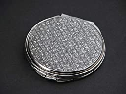 Creative Gifts Glitter Galore Round Compact Mirror, Nickel Plated