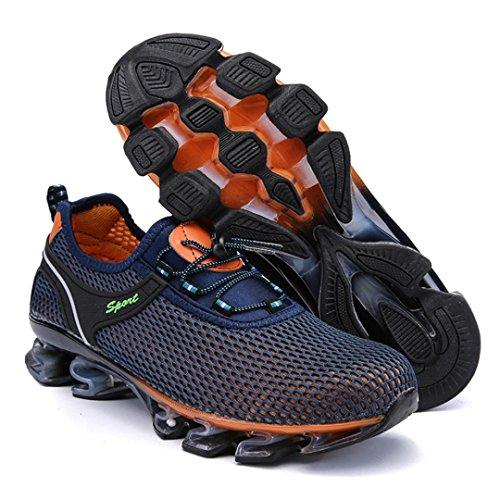 Sportive Uomo da all'Aperto Blu Basket Nette 2 Corsa Respirabile Piattaforma Ventilazione Scarpe SmrBeauty Ginnastica Interior Confortevole Casual Scarpe Sportive Scarpe Sneaker da qaI7ABYw