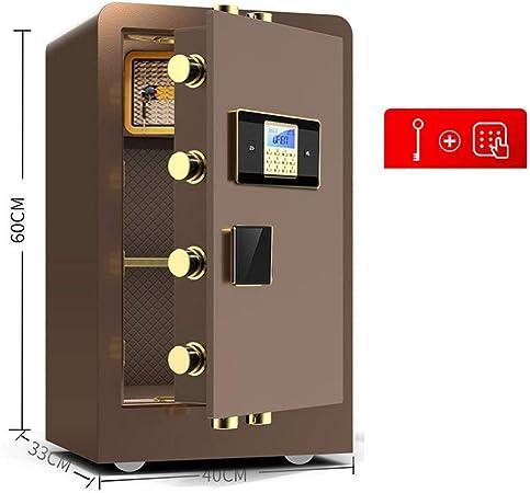 YAzNdom Caja Fuerte Caja Fuerte Y Bloqueo del Teclado Dinero Caja De Seguridad Digital Armarios De Acero De Construcción para Home Office Hotel (Color : Brown B, Size : 40x33x60cm): Amazon.es: Hogar