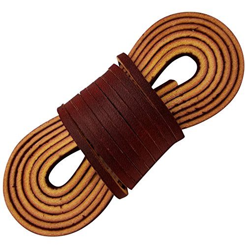 Leather Boot Laces Logger Style-A pair and A spear-3 Burgundy Leather Boot laces each 54 Inch Long, By (Burgundy Leather Boot)