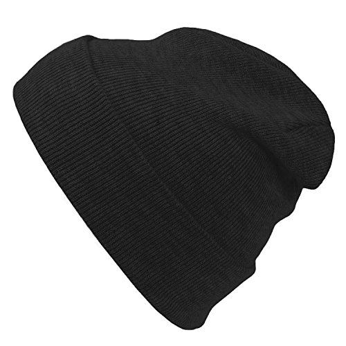 (Cap911 Unisex Plain 12 inch long Beanie - Many Colors (One Size, Charcoal))