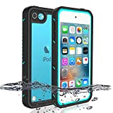 iPod 5 iPod 6 Waterproof Case, Re-Sport Shockproof Dirtproof Snowproof Full-Body Protective Case Cover Built-in Screen Protector Compatible iPod Touch 5th/6th (Blue)