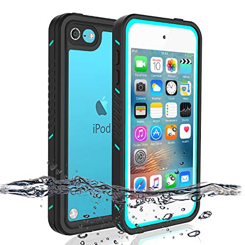 iPod 5 iPod 6 iPod 7 Waterproof Case, Re-Sport Shockproof Dirtproof Snowproof Full-Body Protective Case Cover Built-in Screen Protector Compatible iPod Touch 5th/6th/7th ()