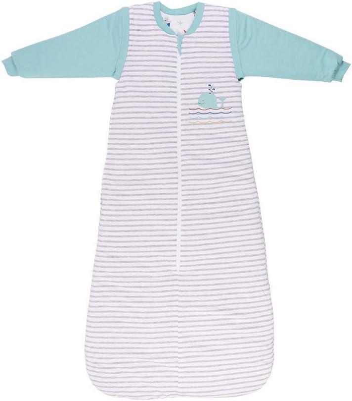 Saco de dormir Slumbersac con mangas largas desmontables 3.5 Tog AOP Mariposa 0-6 meses//70cm