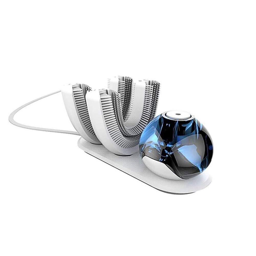 CUIXI Cepillo de Dientes eléctrico ultrasónico, Cepillo de Dientes automático Recargable inalámbrico, Cabezal de Cepillo Doble, eléctrico Perezoso, ...
