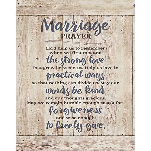 Marriage Prayer Wood Plaque Inspiring Quotes 11.75