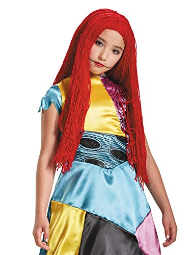 Girls Christmas Costumes (Sally Nightmare Before Christmas Child Wig)