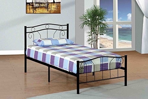 Donco Kids Twin Metal Bed, Black by Donco Kids