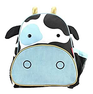 Skip Hop Zoo Toddler Kids Insulated Backpack Cheddar Cow Boy, 12-inches, Blue