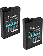 Insten 2Pcs High Capacity Replacement Battery Compatible with Sony PSP 2000 3000 Playstation Portable Slim PSP-2000 PSP-2001 PSP-3000 PSP-3001 PSP-3002 PSP-3004 Rechargeable Lithium Ion Batteries