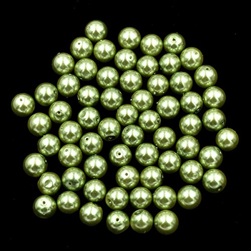 AD Beads Top Quality Czech Glass Pearl Round Loose Beads 3mm 4mm 6mm 8mm 10mm 12mm (3mm (200 Pcs), Olive Green) ()