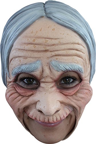 [Old Lady Chinless Adult Mask - Halloween Mask] (Old Lady And Old Man Halloween Costumes)