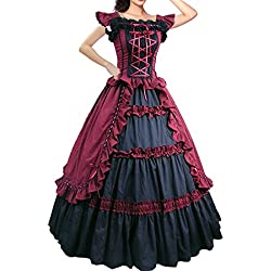 Partiss Women Evening Gothic Lolita Dress,small,winered